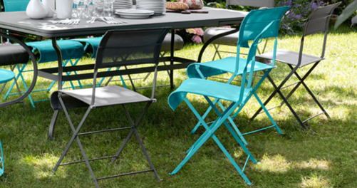 chaise en toile, chaise de jardin, fermob pliante