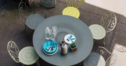 table de jardin, table metal, table terrasse