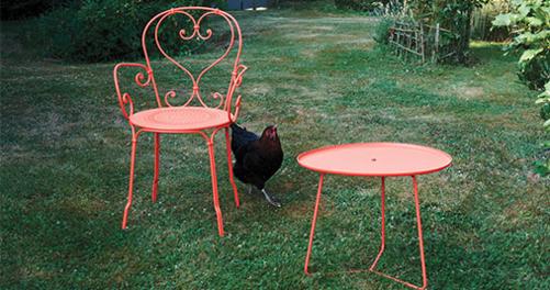 fauteuil en metal, chaise metal, chaise de jardin