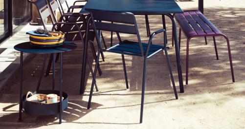 chaise metal, fauteuil repas