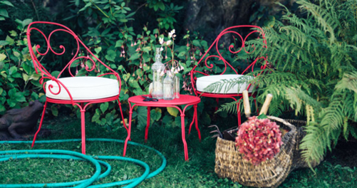fauteuil de jardin, fauteuil 1900, fermob, fauteuil a volute