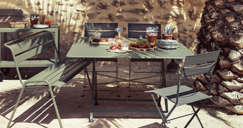 table de jardin, table metal, table pliante, table de jardin pliante, fermob