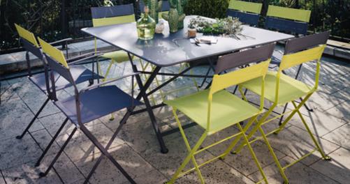 table de jardin en métal Cargo