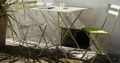 table de jardin metal Bistro
