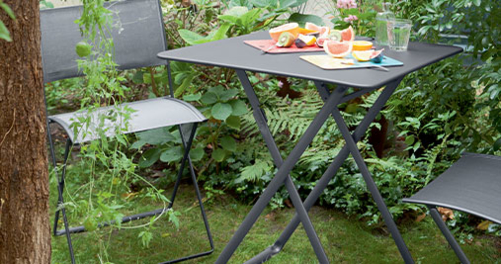 table metal, petite table de jardin, table 2 personnes, table pliante