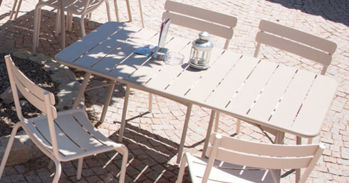 table metal, table de jardin, table terrasse