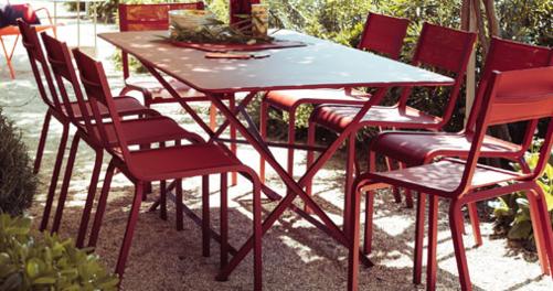 table de jardin pliante, table metal pliante