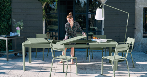 grande table metal, grande table de jardin, table de jardin a rallonge