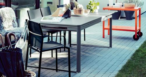table a allonge, grande table metal, grande table de jardin, table a rallonge, fermob