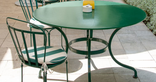 table metal, table de jardin, table 6 personnes, table ronde en metal