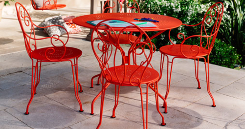 Table ronde 96 cm Montmartre, table de jardin en métal