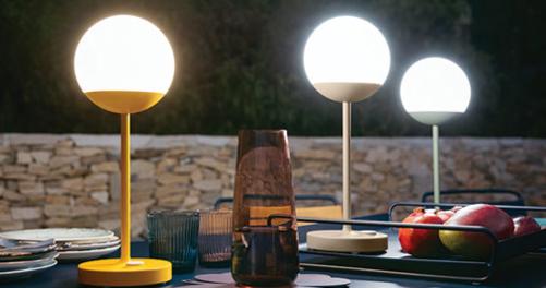 lampe de jardin sans fil, lampe fermob