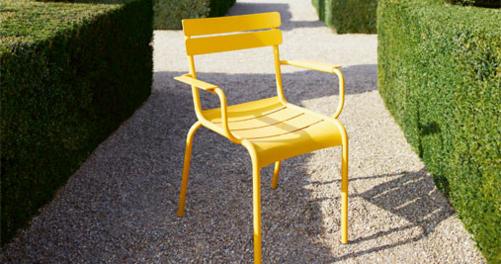 fauteuil de jardin, chaise metal