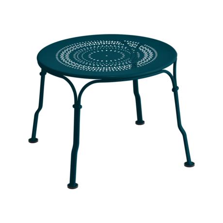 Table basse 1900 bleu acapulco