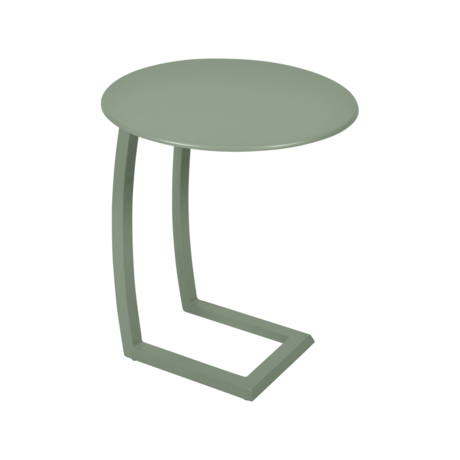 table basse chaise longue vert, table basse aluminium, table basse bain de soleil