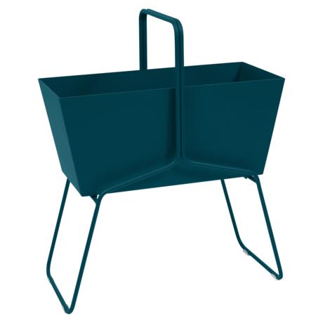 Jardinière format haut basket bleu acapulco