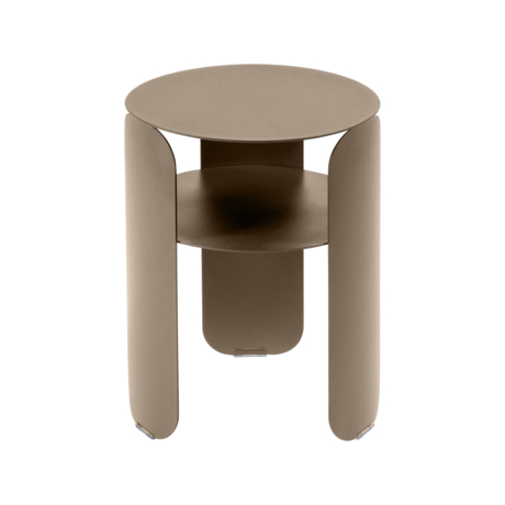 table d'appoint en metal, table de chevet metal, table d appoint bebop, table chevet fermob, petite table basse beige