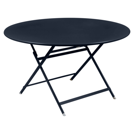 table de jardin pliante, table metal ronde, table metal 7 personnes, table de jardin bleue, table metal bleue