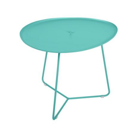 table basse metal, table basse fermob, table basse de jardin, table basse bleu