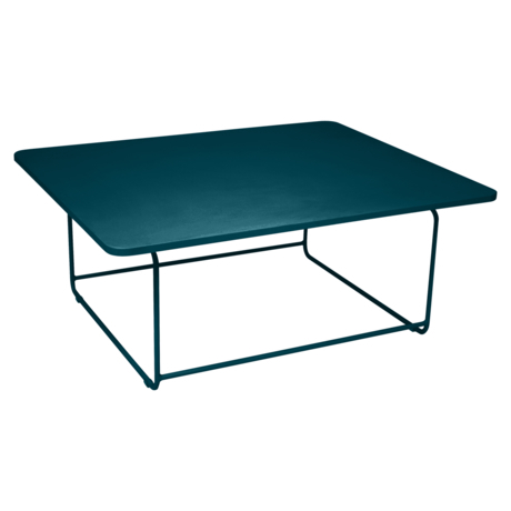 Table basse ellipse bleu acapulco