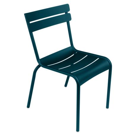 Chaise acier luxembourg bleu acapulco