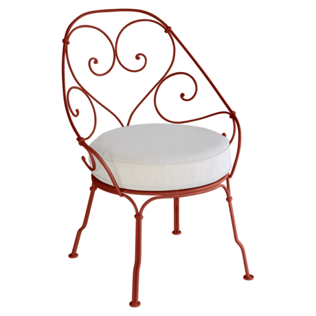 Fauteuil Cabriolet 1900 ocre rouge