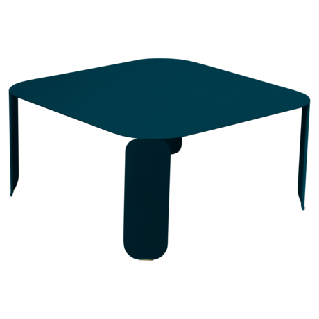 table basse metal, table basse design, table basse fermob, table basse bleu