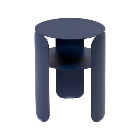 table d'appoint en metal, table de chevet metal, table d appoint bebop, table chevet fermob, petite table basse bleue