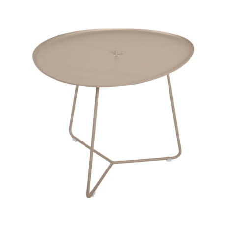 table basse metal, table basse fermob, table basse de jardin, table basse beige