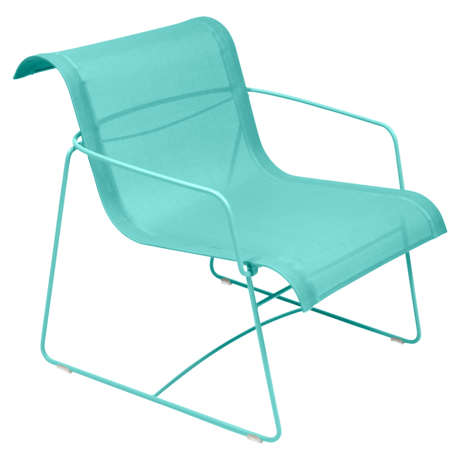 fauteuil de jardin en toile bleu