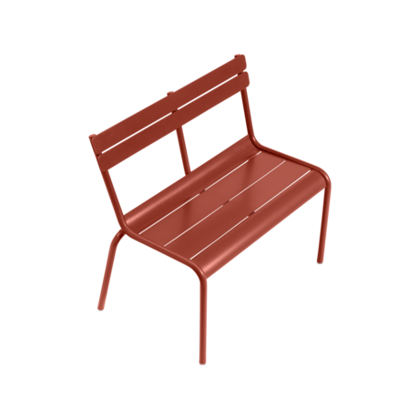 Banc kid luxembourg ocre rouge