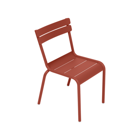 Chaise kid luxembourg ocre rouge