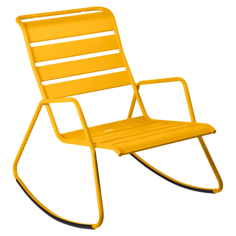 rocking chair metal, rocking chair fermob, rocking chair jardin, rocking chair jaune