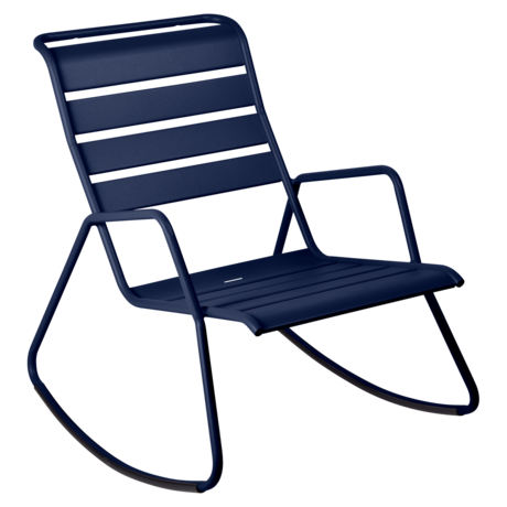 rocking chair metal, rocking chair fermob, rocking chair jardin, rocking chair bleu