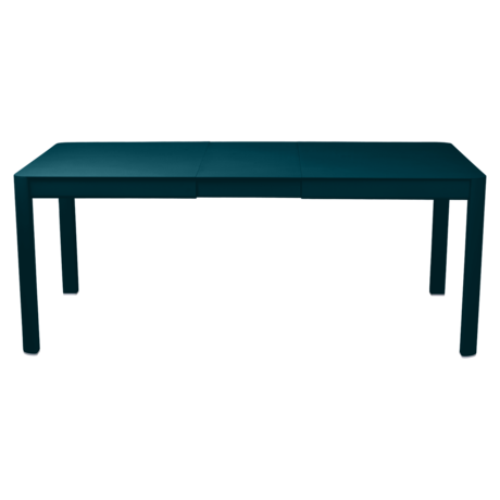 Table 1 allonge 149/191 x 100 cm ribambelle bleu acapulco