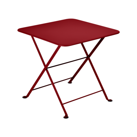 table basse metal, table enfant metal, table de jardin pour enfant, table basse rouge