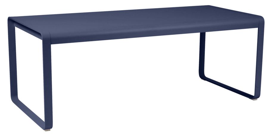 table de jardin, table metal, table bleu, table fermob