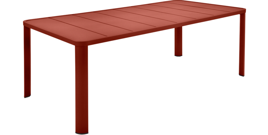Table 205 x 100 cm oléron ocre rouge