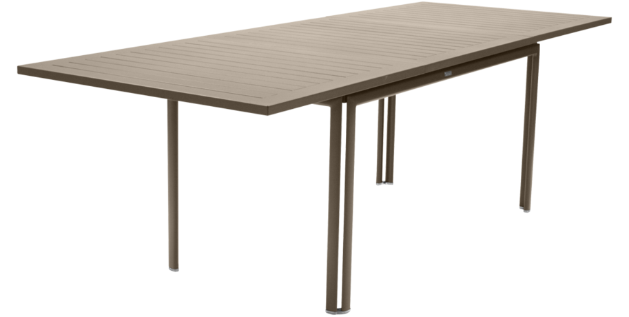 table metal, table de jardin, table rectangulaire, table beige