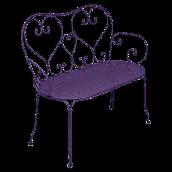 1900 Banquette en métal violet