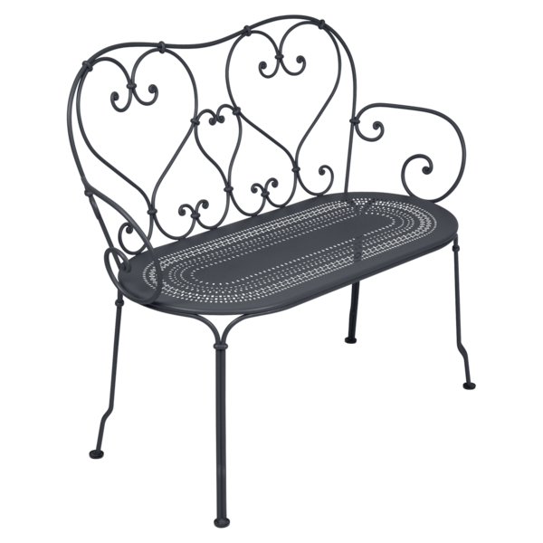1900 Banquette en métal noir
