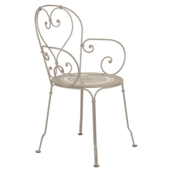 chaise metal beige