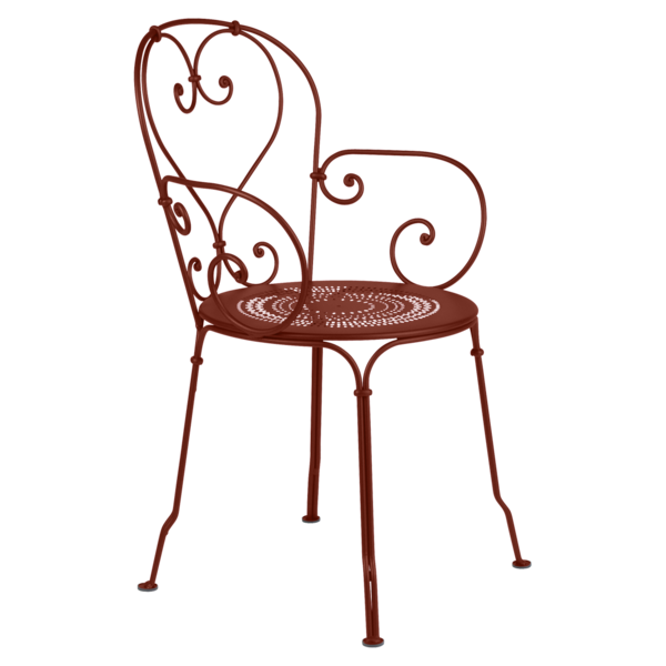 fauteuil 1900 ocre rouge