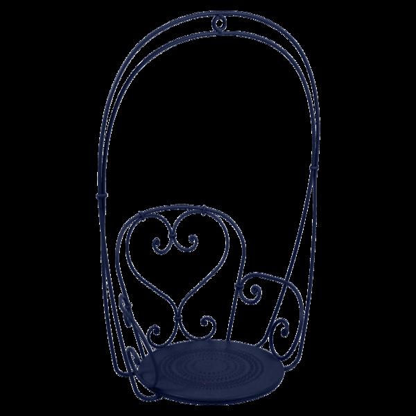 fauteuil suspendu, balancelle, fauteuil dans les arbres, fauteuil suspendu metal bleu