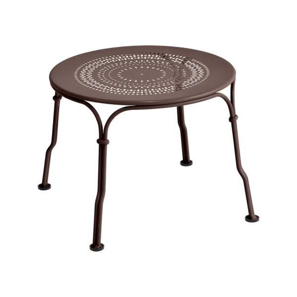 table basse metal marron