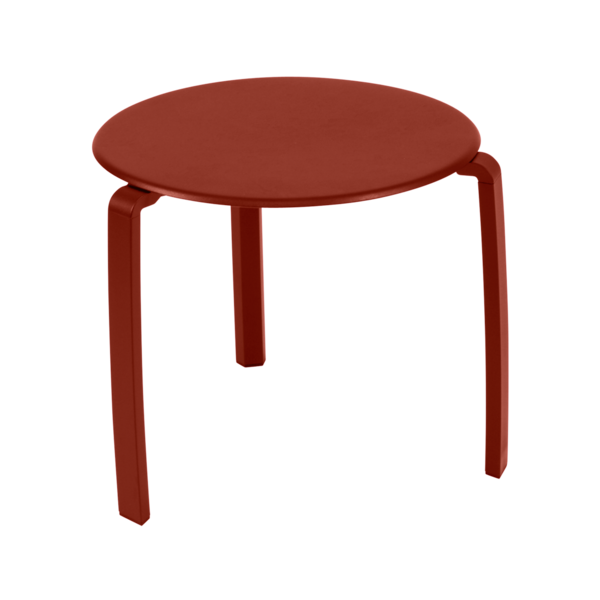Table basse alizee ocre rouge