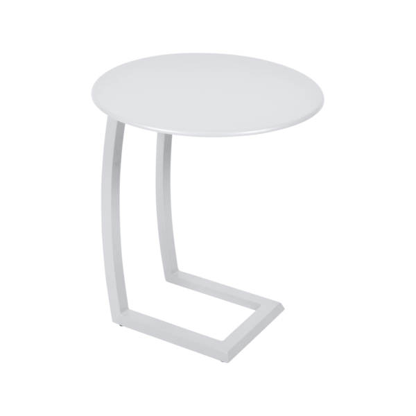 table basse chaise longue blanche, table basse aluminium, table basse bain de soleil