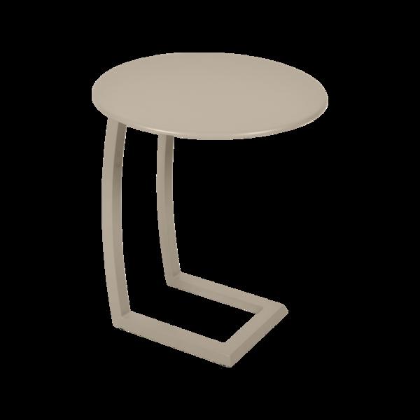 table basse chaise longue beige, table basse aluminium, table basse bain de soleil