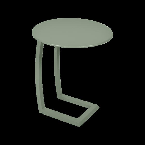 Table basse déportée Alizé, petite table basse jardin en métal