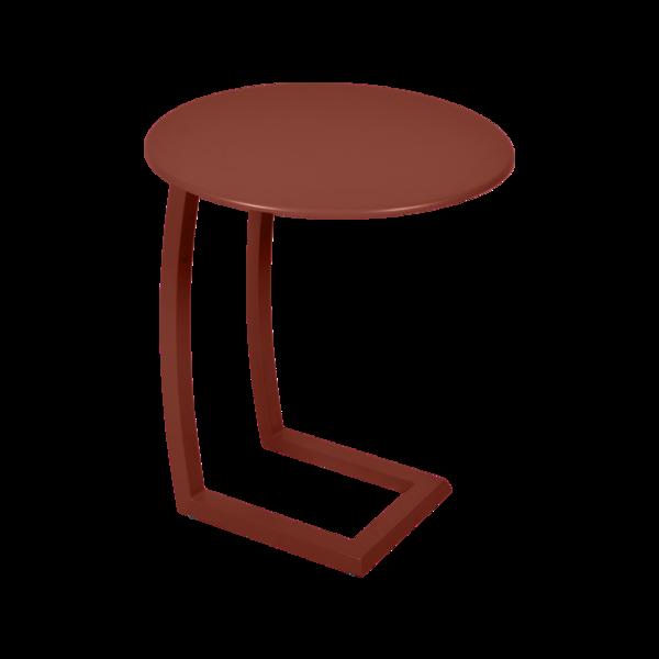 Table basse déportée alizé ocre rouge